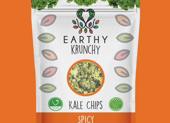 Spicy Kale Chips by Earthy Krunchy