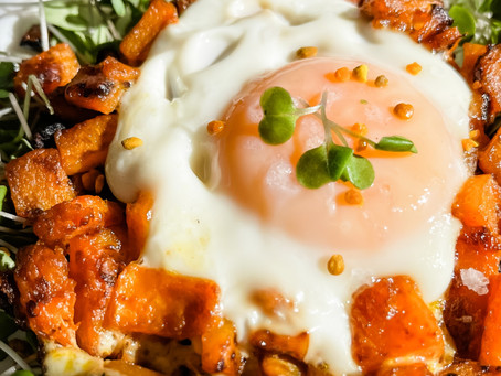Easy Butternut Egg Baskets (dairy free + gluten free + paleo + keto)