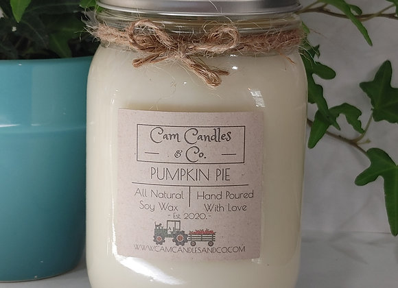 Pumpkin Pie Soy Wax Candle by CAM Candles & Co. - 16 oz