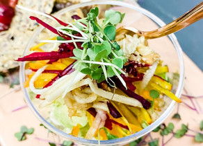 Craveable Harvest Crunch Salad Recipe w. Clean Maple Cider Dressing
