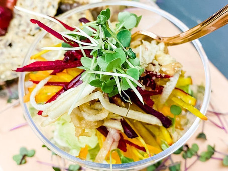 Craveable Harvest Crunch Salad Recipe w. Clean Maple Cider Dressing