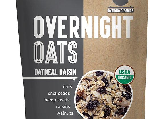 Oatmeal Raisin Overnight Oats by Overnight Organics - 10 pack