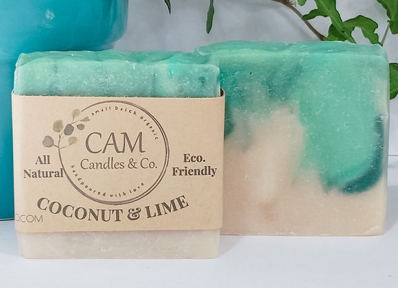 Coconut Lime Cold Process Soap by CAM Candles & Co. - 4 o