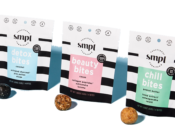 Superfood Bites Sampler by SMPL - 3 bags