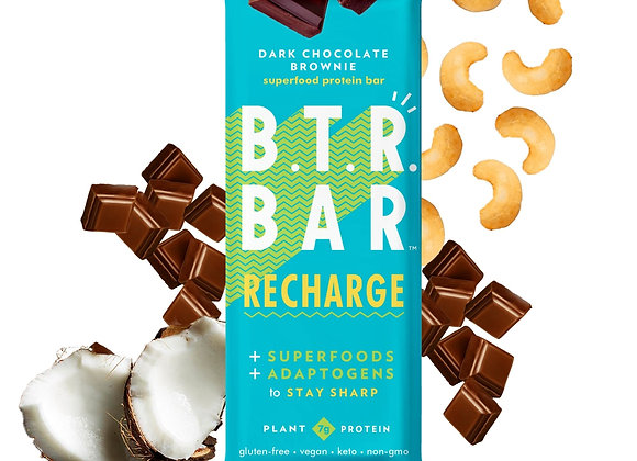 Dark Chocolate Brownie Recharge Bars by B.T.R. Bar - 12 pack