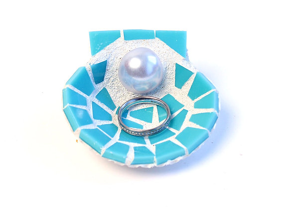 Blue Mosaic Trinket Shell by Live in Mosaics - small