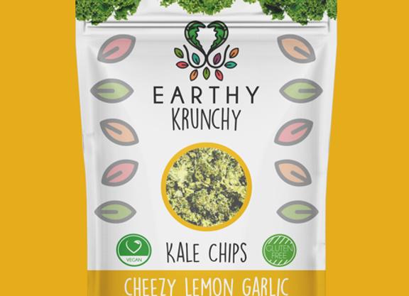 Cheezy Lemon Garlic Kale Chips by Earthy Krunchy