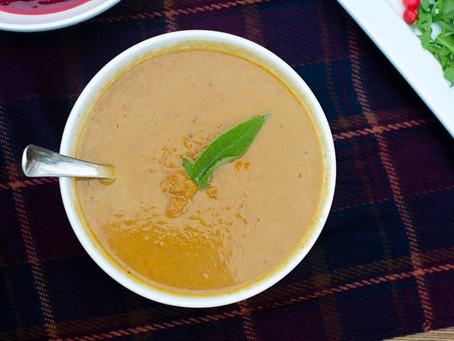 The Hale Life's Gut Boosting Butternut Squash Soup Recipe