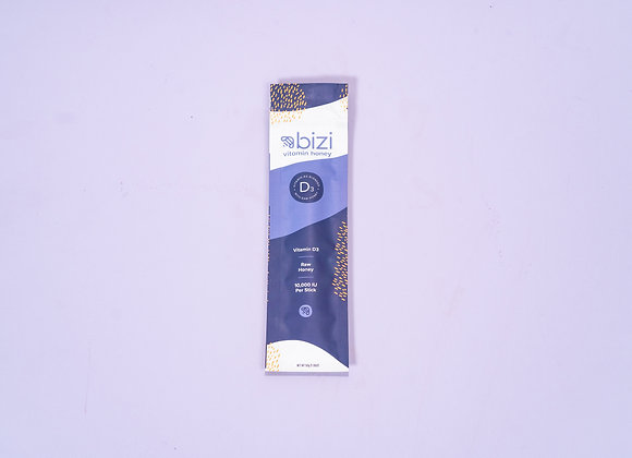 Vitamin D Infused Raw Honey Sticks by Bizi Vitamin Honey - 10 sticks