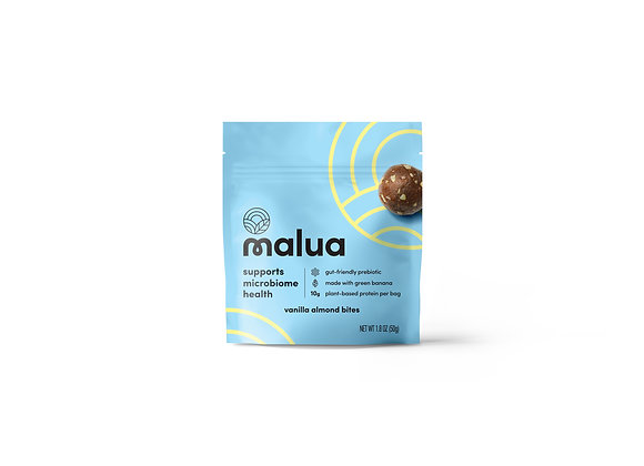 Vanilla Almond Butter Prebiotic Snack Bites by Malua