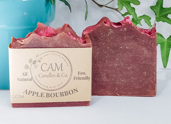 Apple Bourbon Cold Process Soap by CAM Candles & Co. - 4 o
