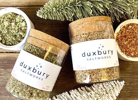 Holly Jolly Sea Salt Duo by Duxbury Saltwork - small jars