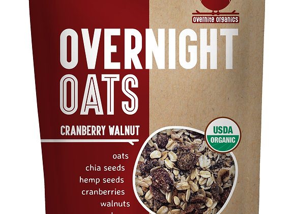 Cranberry Walnut Overnight Oats by Overnight Organics - 10 pack