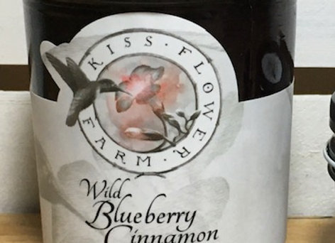 Wild Blueberry Cinnamon Jam by Kiss Flower Farm - 8 oz jar