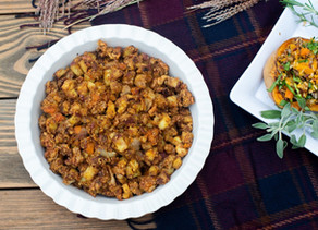 Healthy Harvest Vegetable Stuffing - paleo, keto and vegan friendly!