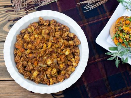 Healthy Harvest Vegetable Stuffing - paleo, keto and vegan friendly!