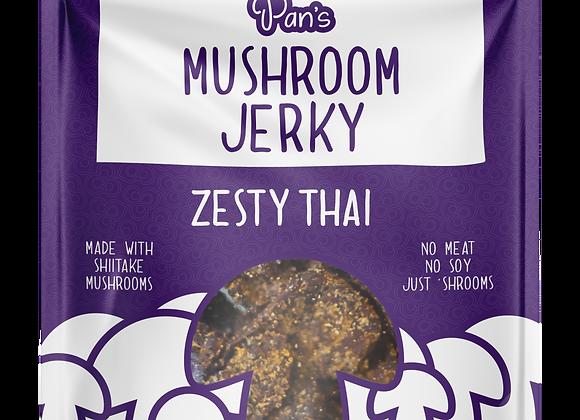 Zesty Thai Vegan Mushroom Jerky by Pan's Mushroom Jerky