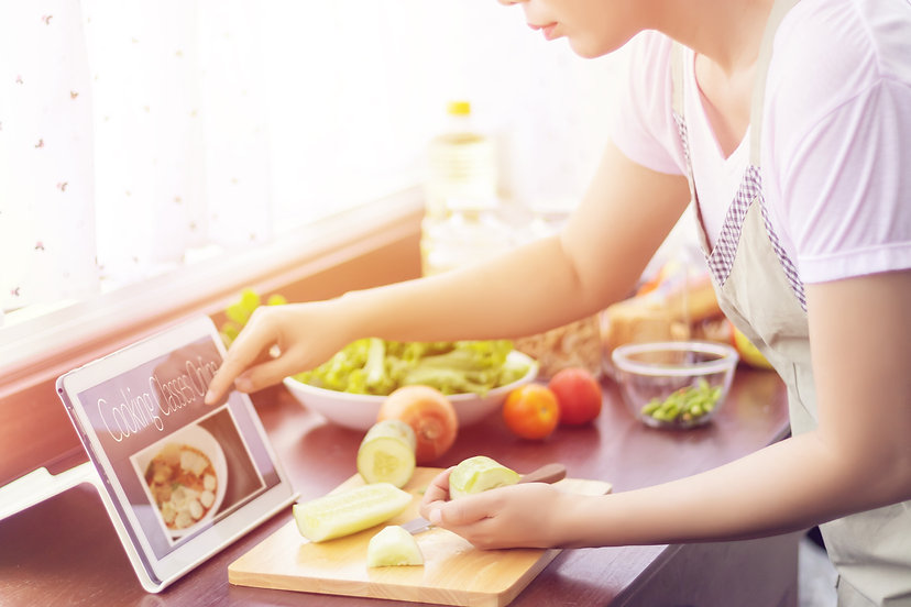 Asian woman prepare ingredients for cook