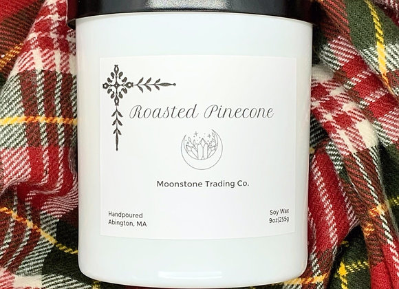 Roasted Pinecone Scented Wooden Wick Candle by Moonstone Trading Co. - 9 oz