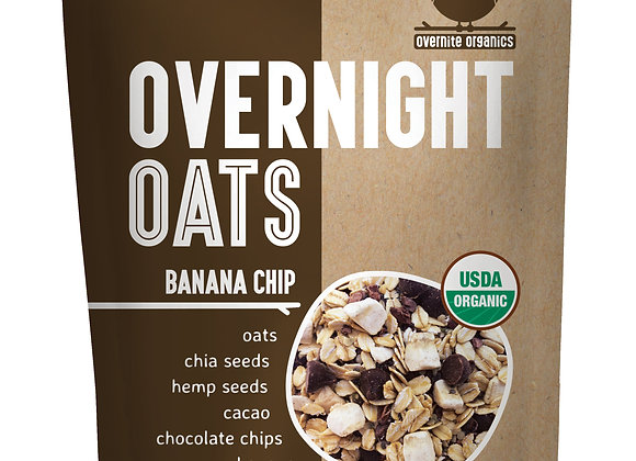 Banana Chip Overnight Oats by Overnight Organics - 10 pack