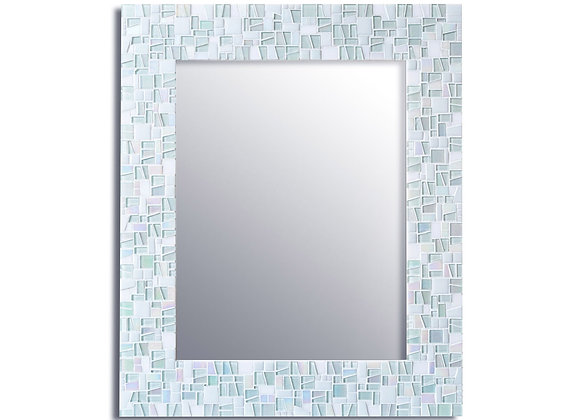 White Mosaic Mirror by Live in Mosaics