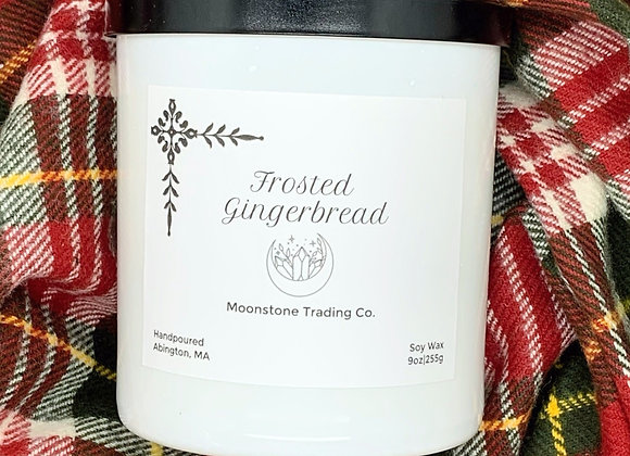 Frosted Gingerbread Scented Wooden Wick Candle by Moonstone Trading Co. - 9