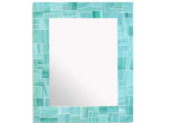 Sea Green Mosaic Mirror by Live in Mosaics