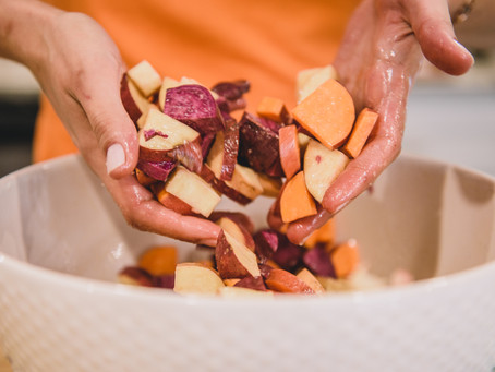 Easy Oven Roasted Chicken & Sweet Potato Sheet Pan Hash