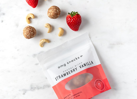 Strawberry Vanilla Energy Bites by AMG Snacks - 3 bags