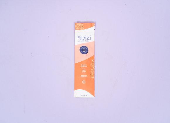Vitamin B Infused Raw Honey Sticks by Bizi Vitamin Honey - 10 sticks