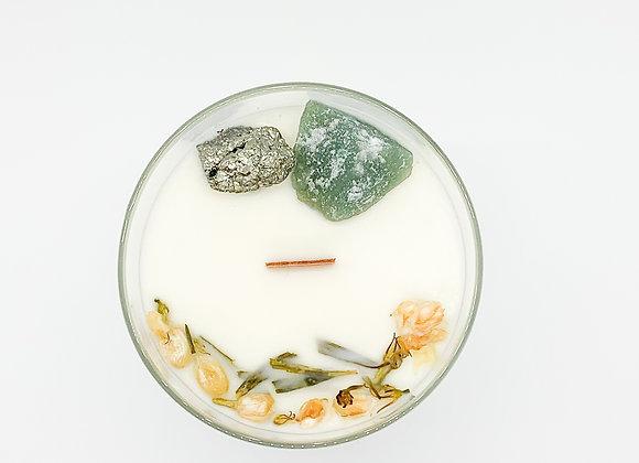 Abundance Crystal Ritual Candle by Moonstone Trading Co. - 9 oz