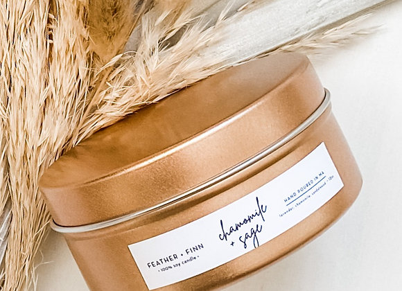 Chamomile + Sage Candle by Feather & Finn Co. - 6 oz tin