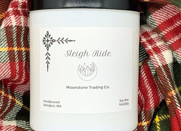 Sleigh Ride Scented Wooden Wick Candle by Moonstone Trading Co. - 9 oz