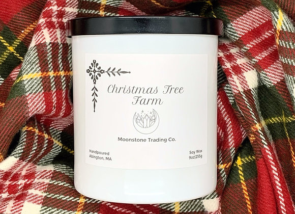 Christmas Tree Farm Scented Wooden Wick Candle by Moonstone Trading Co. - 9 oz