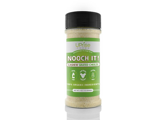 Nooch It! Cashew Grated Cheese by Uprise Foods - 4 oz container