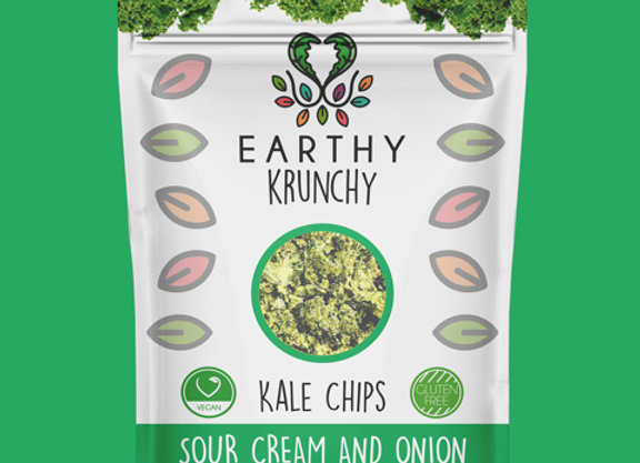 Sour Cream and Onion Kale Chips by Earthy Krunchy