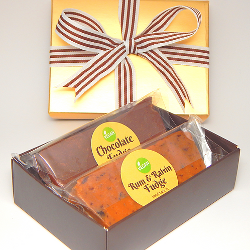 *VEGAN* Two Bar Fudge Gift Box