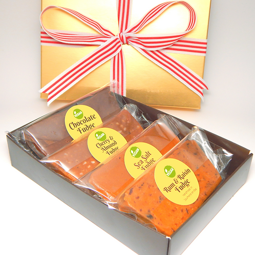 *VEGAN* Four Bar Fudge Gift Box