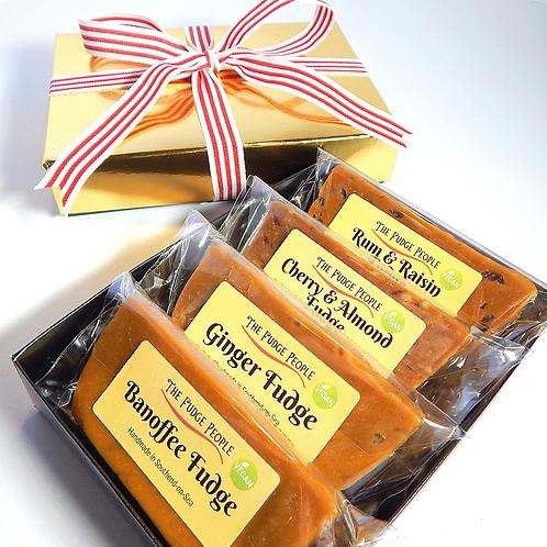 *VEGAN* Four Bar Fudge Gift Box