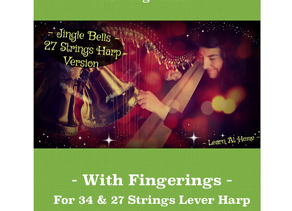 Jingle Bells - 27 & 34 Strings Harp 2018 Version -