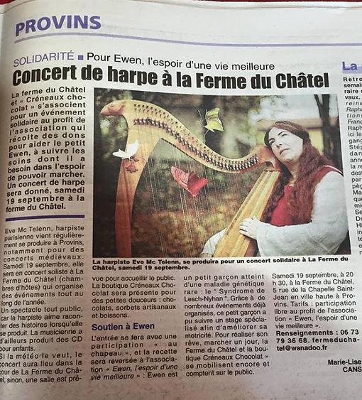 article eve mctelenn harpe celtique
