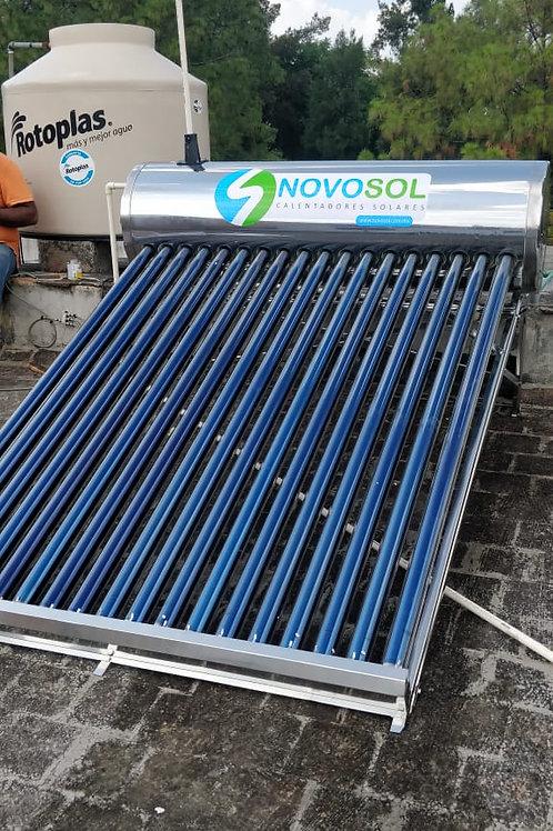 Calentador Solar Solaris NovoSol. 18 Tubos. 6 Personas
