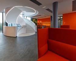 interior in office building 4 of bnNetze in Freiburg