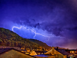 dramatic thunderstorm scenery at the Oberberg in Grenzach