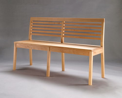 wooden bench by Oeschger cabinetry