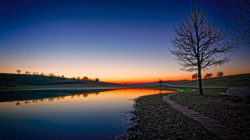 the lake of Eichen after sunset