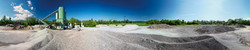 360 degree view of a gravel plant