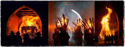 Chienbäse - a fire procession in the town of Liestal in Switzerland