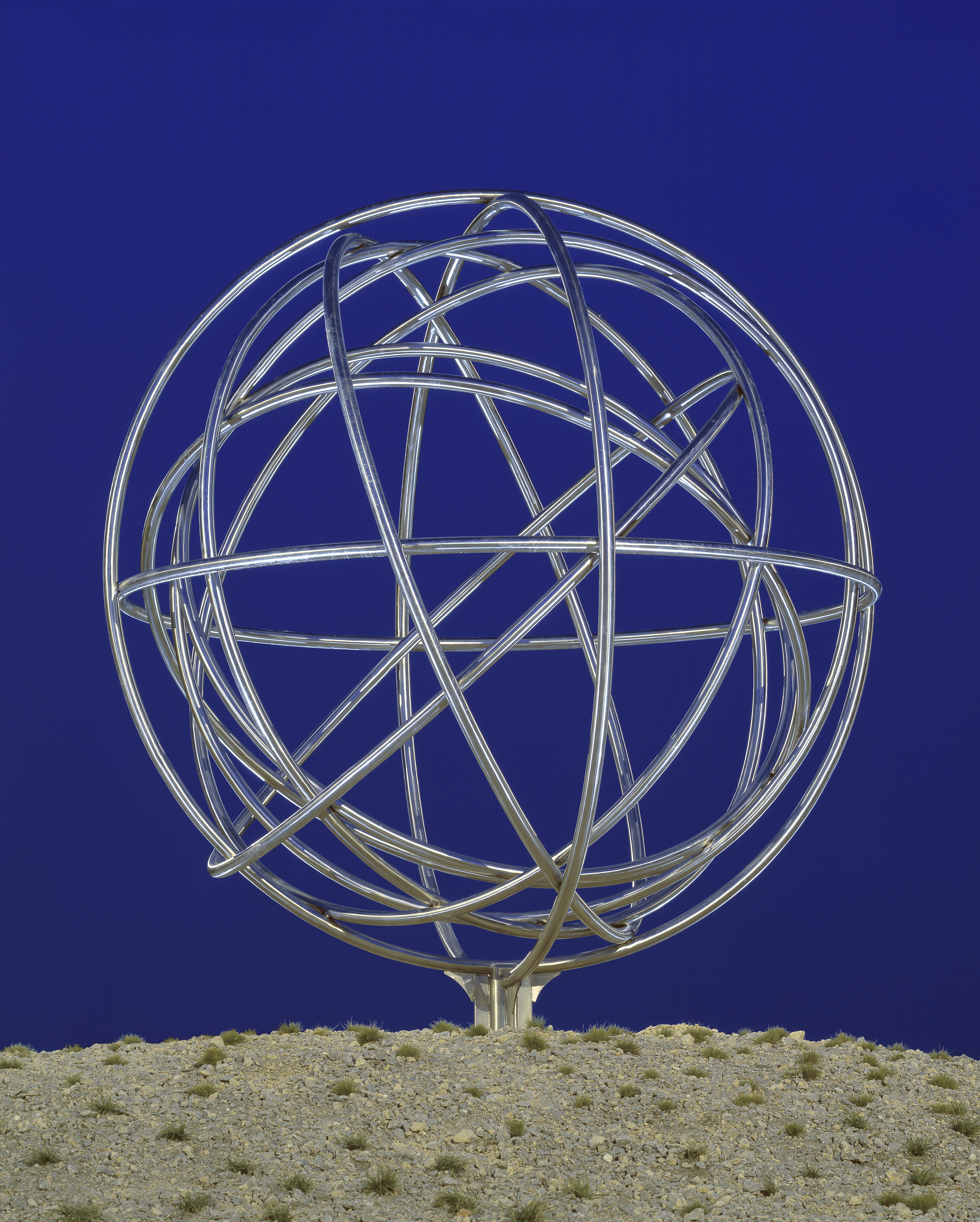 """sculpture """"roundabout"""" by W. Wetzel"""