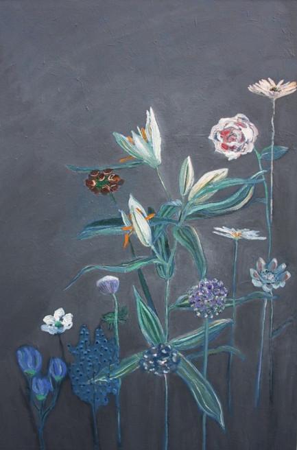 Lelies in grijs